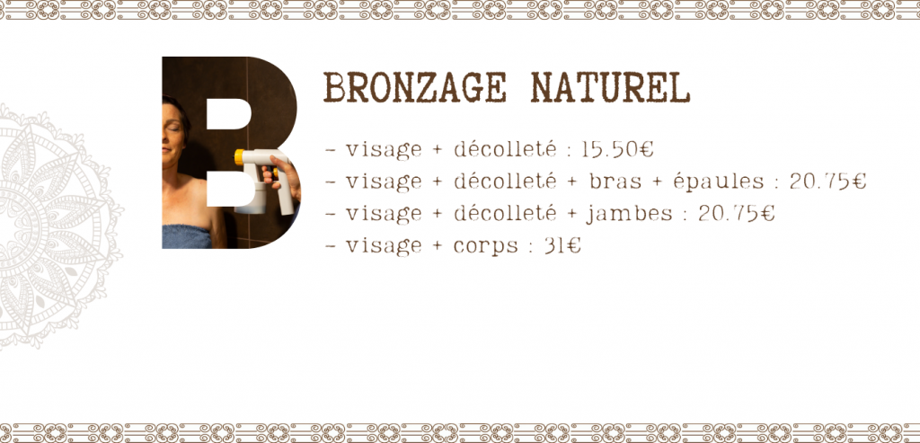 bronzage au naturel